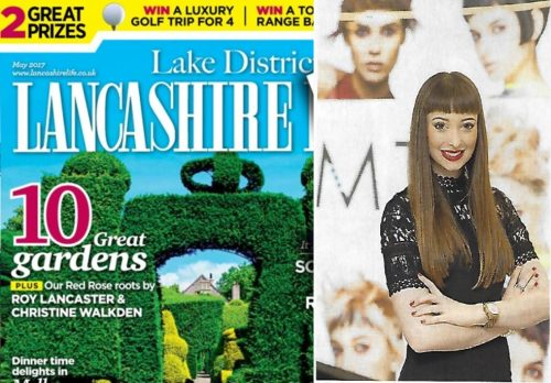 Melissa Timplerley Salons are featured in a 3 page article inthe May issue of Lancashire Life