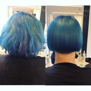 Melissa Timperley Salons - Blue bob