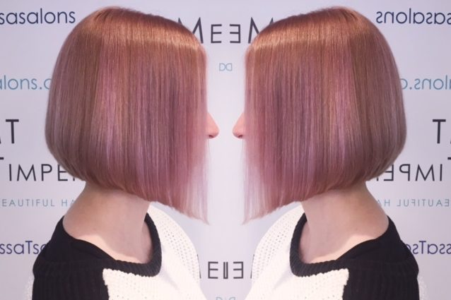 A beautiful example of a Pink Blush hair colour for one of our customers. We are seeing a lot of interest in Pink Hair here at Melissa Salons