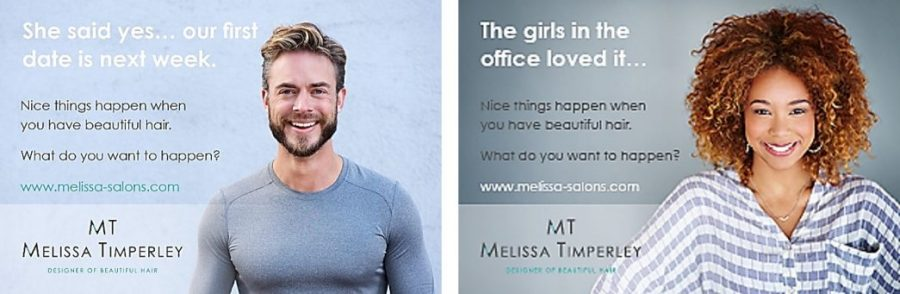 Melissa Salons Client Feedback featured in a new ad series