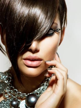 Glossy hair tips
