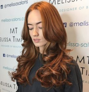 Copper hair colour style 3
