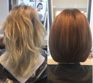 Copper hair colour style 6