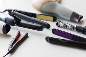 Hair styling damage on brittle hair